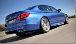2012 BMW F10M M5 tearing up the road