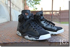 AIR JORDAN 6 BLACK WHITE CUSTOM 2