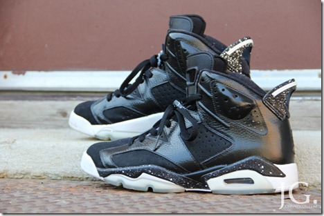 AIR JORDAN 6 BLACK WHITE CUSTOM 3