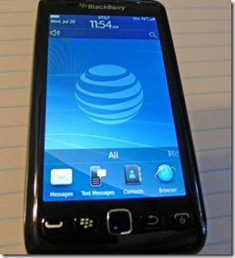 BlackBerry Torch 9860 spotted with AT&T branding