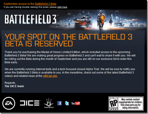 Battlefield 3 beta/relationship problems inbound!