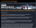 Battlefield 3 Alpha invites going out, I got mine