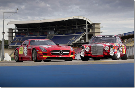 Mercedes-Benz SLS AMG GT3 and 300 SEL 6.8 AMG 2