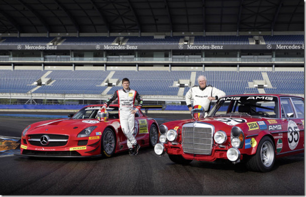 Mercedes-Benz SLS AMG GT3 and 300 SEL 6.8 AMG 3