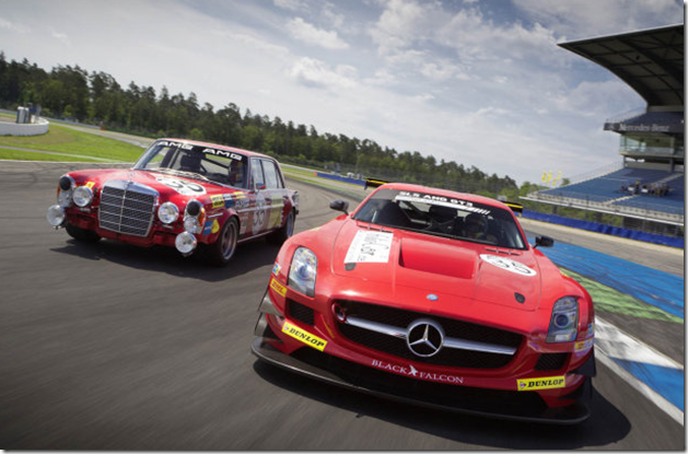 Mercedes-Benz SLS AMG GT3 and 300 SEL 6.8 AMG