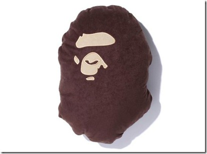 A Bathing Ape Bape Head Flannel Cushion