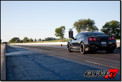 AMS Alpha 12 Nissan GT-R Goes 8 Seconds In The Quarter