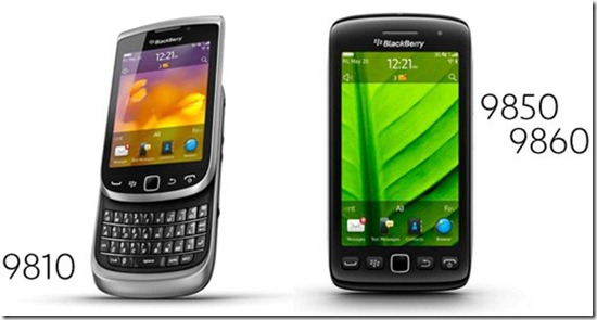 BlackBerry Torch 9810 and Torch 9850 9860 officially announced
