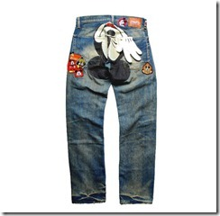 CLOT Dynasty Mickey Mouse Patch Denim 2