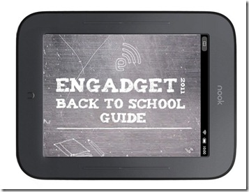 Engadget's back to school guide 2011 E-readers