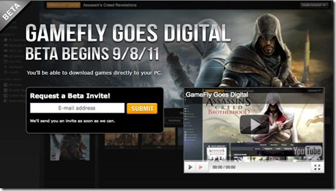 GameFly to launch 'Unlimited PC Play' download service