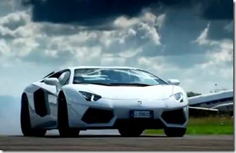 Lamborghini Aventador and Top Gear meet at last