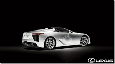 Lexus LFA Roadster to show face in 2014 2