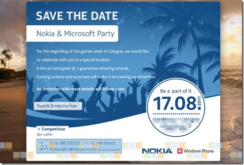 Microsoft and Nokia having a Windows Phone event August 17