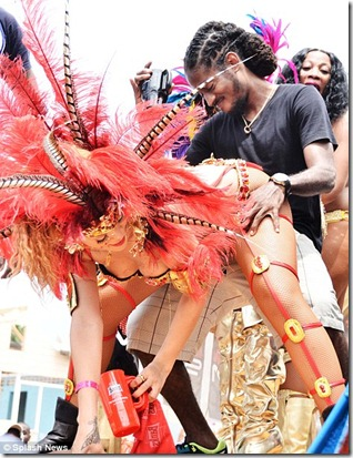 Rihanna Rekindles Former Love Intrest At Canival In Barbados
