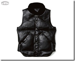 uniform experiment x Rocky Mountain Featherbed Leather Down Vest 2