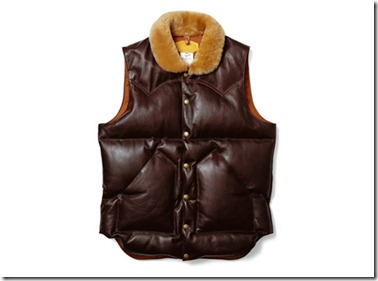 uniform experiment x Rocky Mountain Featherbed Leather Down Vest