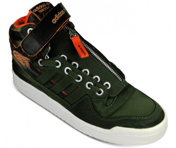 """new style 549ed 5dee0 Star Wars x adidas Forum Mid Military """"Han Solo"""" 2 ..."""