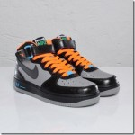 Nike Air Force 1 Mid GS Black/Light Charcoal-Blue Glow (Halloween Edition)