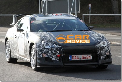 The Toyota FT-86 caught on camera