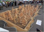 3D Chalk Drawings Of China's Terracotta Warriors