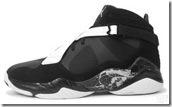 AIR JORDAN 8.0 BLACK DARK CHARCOAL-WHITE