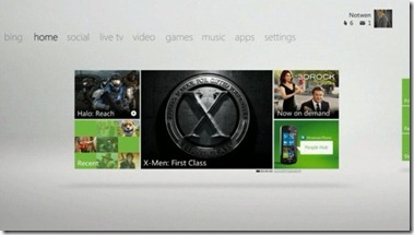 XBox Tile Dashboard 1