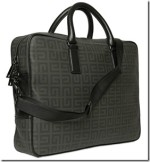 Givenchy Logo Jacquard Leather Effect Briefcase