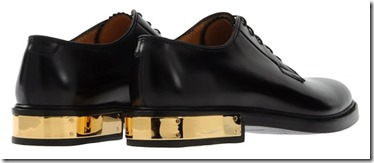 Marc Jacobs Black Leather Gold Plate Shoes 4