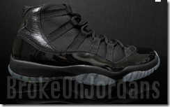 "Air Jordan 11 ""Blackout"" Sample 2"