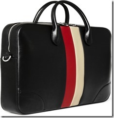 Gucci Striped Leather Briefcase 2