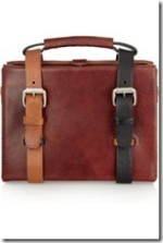 Ralston leather briefcase tote