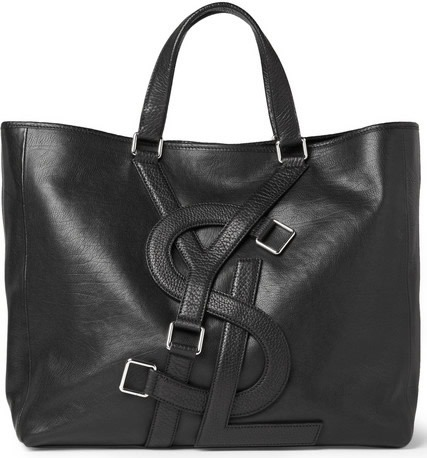 Yves Saint Laurent Logo Strap Leather Tote Bag | LifeStyles Defined