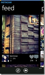 Instacam for Windows Phone can now like and comment on photos
