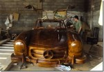 Wooden 1955 Mercedes-Benz 300SL Gullwing