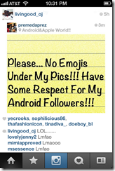 iPhone Instagram users not playing nice with their Android cousins 3