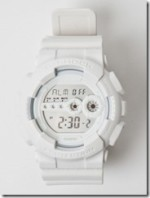 WHITE CASIO G-SHOCK GD-100