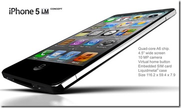 iPhone 5 LiquidMetal Concept