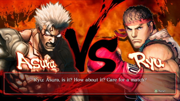 Street Fighter's Ryu Takes On Asura's Wrath