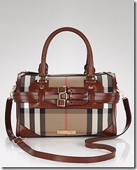 Burberry Checked Satchel