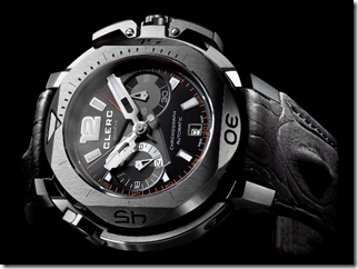 Clerc Hydroscaph Central Chronograph Steel Watch 3