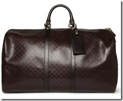 Gucci Textured Leather Holdall Bag 3