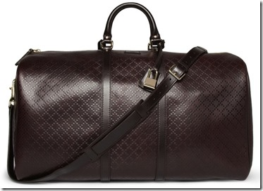 Gucci Textured Leather Holdall Bag