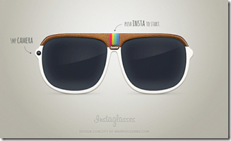 Instaglasses–The concept Instagram Glasses
