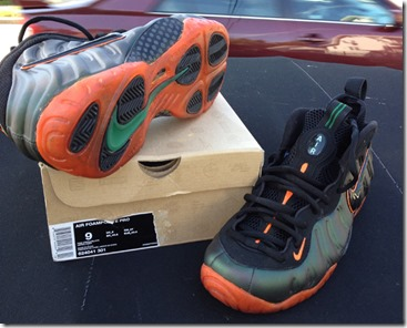 "Nike Air Foamposite Pro ""Miami Hurricanes"" Custom 2"