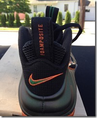 "Nike Air Foamposite Pro ""Miami Hurricanes"" Custom 3"