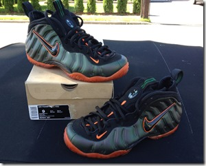 "Nike Air Foamposite Pro ""Miami Hurricanes"" Custom 4"