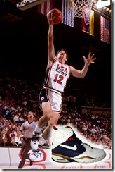 PORTLAND, OR - JUNE 30: John Stockton #12 of the United States shoots against Panama during the Basketball Tournament of Americas on June 30, 1992 at the Veterans Memorial Coliseum in Portland, Oregon. The United States defeated Panama 112-52. NOTE TO USER: User expressly acknowledges and agrees that, by downloading and or using this photograph, User is consenting to the terms and conditions of the Getty Images License Agreement. Mandatory Copyright Notice: Copyright 1992 NBAE (Photo by Nathaniel S. Butler/NBAE via Getty Images)