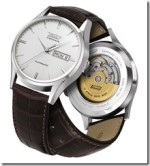 Visodate Men's Silver Automatic Brown Leather Strap Watch