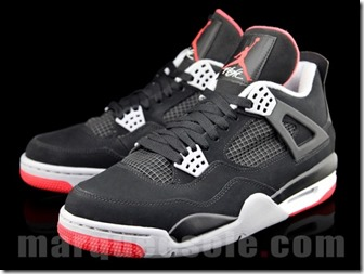 AIR JORDAN IV RETRO – BLACK CEMENT GREY AKA FIRE RED 2